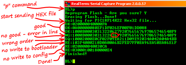 A Serial Bootloader for PIC8F Microcontrollers